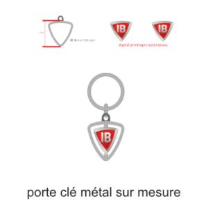 porte clé tournant métal sur mesure