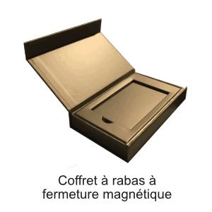 coffret rabat fermeture magnétique
